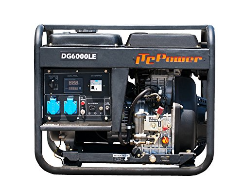 ITCPower IT-DG6000LE, Generador Diesel, 5500 W, 230 V, negro