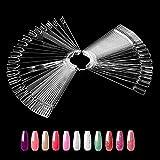 Ealicere 50 piezas Soportes de Exhibición de Uñas, uñas display, palos de práctica usado para pantalla de color de uñas para Nail Design