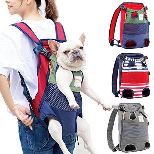 PETCUTE Dog Carrier Backpacks for medium large Dogs Legs Out pet carrier bag Adjustable front dog carry backpack for Hiking, Travel, Camping, support up to 12kg