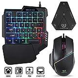 EQEOVGA A11バックライトゲームキーボードとマウスはPS4、Xbox One、Switch、PS3、PCに対応している