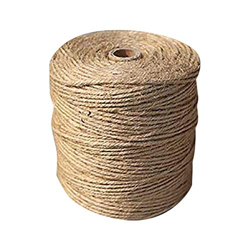 Dasongff Cuerda de yute de 1 mm a 6 mm, hilo de yute, cordel para manualidades, macramé natural, para el hogar, jardín, regalos, manualidades, artesanía y decoración
