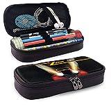 Z-Z - Estuche para lápices de gran capacidad, bolsa de maquillaje para bolígrafos de maquillaje y artículos de papelería para estudiantes con doble cremallera para la escuela y la oficina