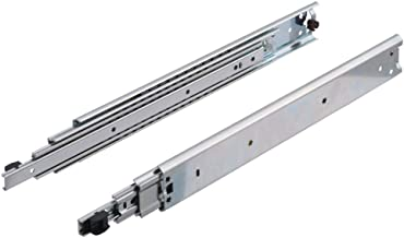 Gedotec schuifladerails, volledig uittrekbaar, 300 mm, voor zware laden, telescopische rails met extra uitschuifbaar, koge...