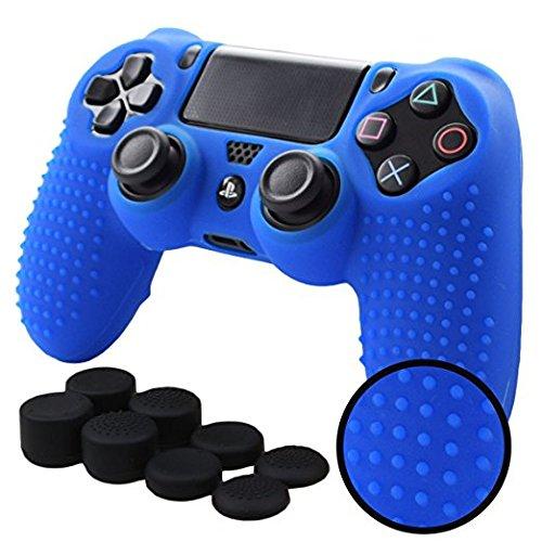 PS4 Funda Texturizada Compatible Con PlayStation 4 (Azul)