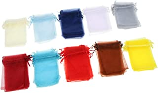 100pcs Colorful Organza Jewelry Packaging Wedding Gift Pouch Drawstring Bag