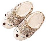 Pantuflas de Erizo peludas Animal Cute Warm para Mujer, Zapatillas de casa de Felpa de Felpa Suave...