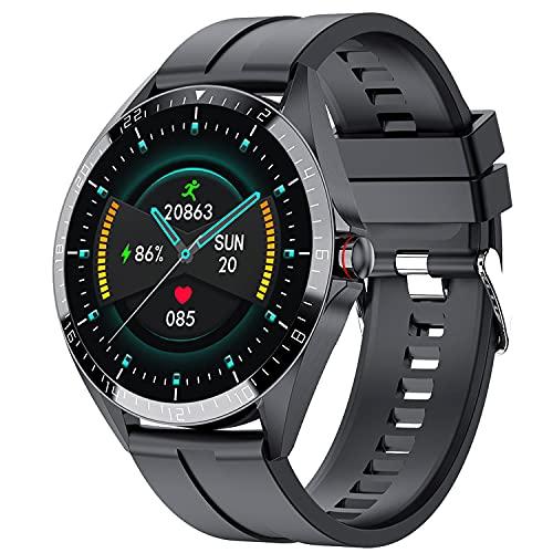 PHIPUDS Smartwatch Hombres Mujer, Reloj Inteligente Impermeable IP67, Pulsera de Actividad Inteligente con Monitor de Sueño Pulsómetro Podómetro Contador de Caloría para Android iOS