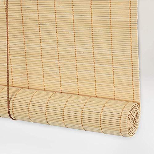 YUANP Persiana Enrollable Blackout Cortina Impermeable Semi-privacidad Protección De Sombra Fácil De Instalar Adecuado para Dormitorio Sala De Estar Baño Oficina Cortina De Bambú,Brown-60x130