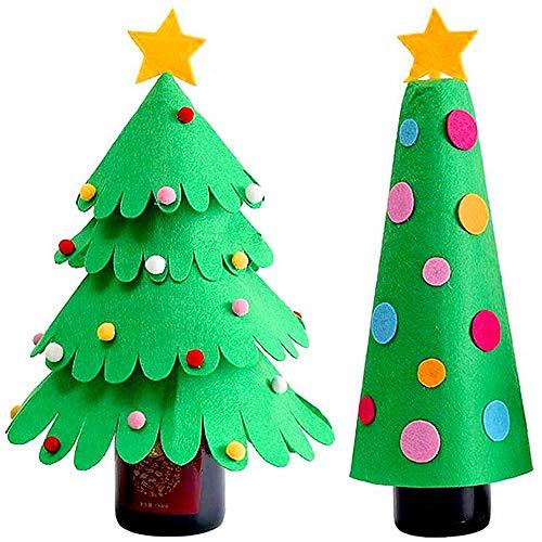 Limeow Bolsa de Botellas de Vino Navidad Decoraciones navideñas Cubiertas de Vino Botellas de Vino de Santa Claus...