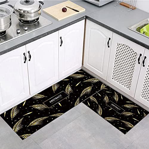 OPLJ Alfombrillas de Cocina alfombras de Puerta de Entrada hogar Planta Tropical impresión decoración Pasillo Sala de Estar Alfombra Antideslizante A5 40x120cm