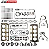 Vincos MLS Full Cylinder Engine Gasket Set w/Head Bolts HS26282PT GS33380 ES72173 (1st Gen...