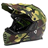 LS2 Helmets Gate Youth Jarhead Full Face Helmet (Matte Camo - Youth Medium)