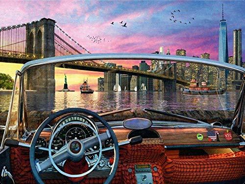 Adoff Puzle de 1000 piezas Brooklyn Brid para adultos a partir de 14 años de liberación, juguete para papeles.