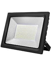 KIWEN LED投光器 フラッドライト 改良版 LEDライト 50W/100W薄型投光器 屋外照明 看板灯 プラグ付き 1.8コード付き 昼光色 長寿命 取説付き 2年品質保証