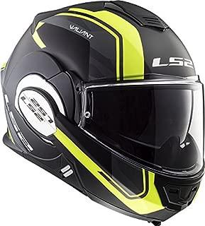 LS2 Helmets Motorcycles & Powersports Helmet's Modular Valiant (Line Hi Viz, Medium)