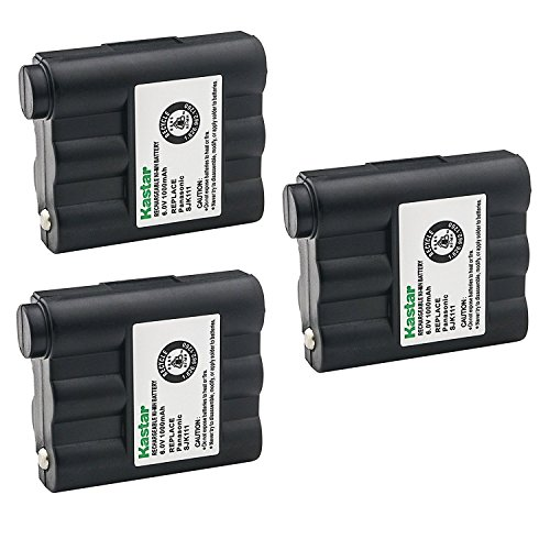 Kastar Cordless Battery 3 Pack Ni-MH 6V 1000mAh, Replacement Two-Way Radio Battery for Midland LXT-210 LXT-303 LXT-305 LXT-310 LXT-350 LXT-410 LXT-435 NAUTICO NTI1VP GXT300 GXT325 GXT400 GXT444 GXT450