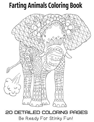 Farting Animals Coloring Book 20 Detailed Coloring Pages Be Ready For Stinky Fun