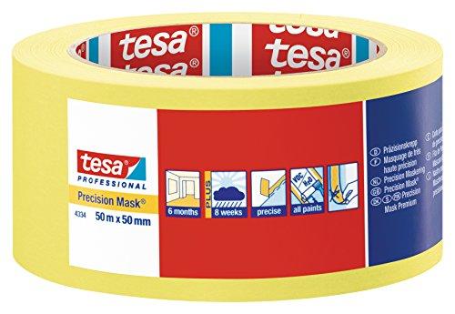 Tesa - Nastro di carta da imbianchino per interni, 5 mesi senza tracce, 50 mm x 50 m