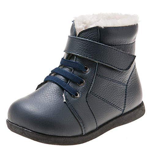 Bébé garçons bébé tout-petits enfants chaussures en cuir véritable marron little blue lamb