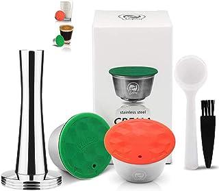 i Cafilas à café pour Dolce Gusto Machine à café en inox Capsule Filtre de Café Réutilisables inox Rechargeables inox Comp...