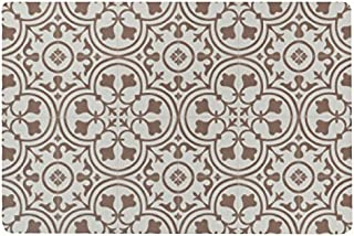Vinyl Floor Mat, Durable, Soft and Easy to Clean, Ideal for Kitchen Floor, Mudroom or Pet Food Mat. Freestyle, Brick Deco Pattern (2 ft x 3 ft)