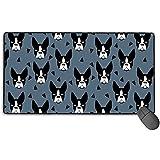 Minze Boston Terrier (2) Gaming-Mauspad, erweiterte große Mausmatte Schreibtisch-Pad, Lange...