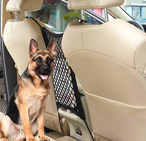 uvome Car Dog Barrier Vehicle Back Seat Net Organizer Auto Storage Mesh Universal Obstacle Children Kids Disturb Stopper (2 Layer)