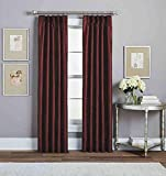 Peri Home Spellbound 84 Inch Pinch-Pleat Rod Pocket Lined Window Curtain Panel in Crimson