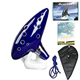 Zelda Ocarina with Song Book, 12 Hole Alto C Ocarinas Play by Link Triforce Gift for Zelda Fans with Getting Started Guide Display Stand and Protective Bag
