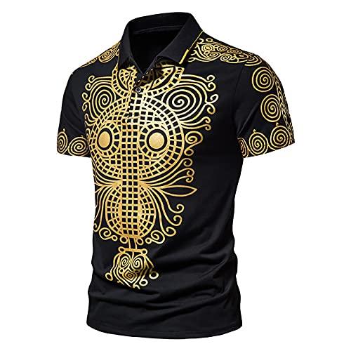 Nuevo 2021 Camiseta Hombre Verano Polo impresión Camiseta Deporte Manga corta Moda Negocio Diario Slim Fit Casuales T-shirt Blusas originales camisas algodón suave Cómodo básica Camiseta