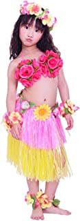 Girls Artificial Hula Costume 7pcs