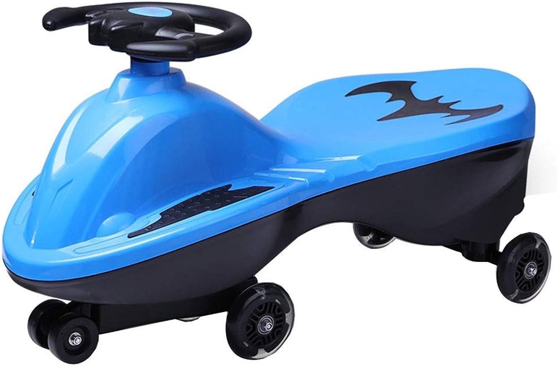 Das drehende Auto der Kinder-Schwingenauto-Spielzeugauto-Kinder blinkendes Universalrad, das 88kg trgt, 1-3 Jahre altes Geschenk (Farbe   rot, Größe   69.5  29  36CM)