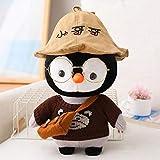 J-MWJ J-MWJ - Pingüino de peluche con vasos (28 x 30 cm), color marrón