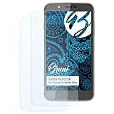 Bruni Schutzfolie kompatibel mit Archos 55 Helium Ultra Folie, glasklare Bildschirmschutzfolie (2X)