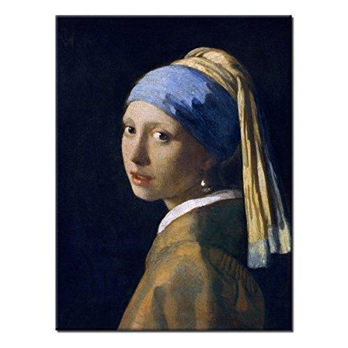WANDKINGS Leinwandbild Das Mädchen mit dem Perlenohrgehänge von Jan Vermeer / 30 x 40 cm/auf Keilrahmen