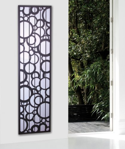 Badheizkörper Design Athen 3, HxB: 180 x 47 cm, 1118 Watt, weiß / dunkelgrau (metallic) (Marke: Szagato) Made in Germany / moderner Bad und Wohnraum-Heizkörper (Mittelanschluss)