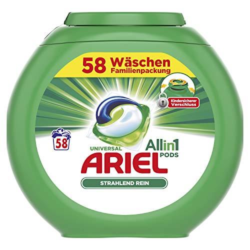 Ariel All-in-1 PODS Universal Strahlend Rein, 58Waschladungen
