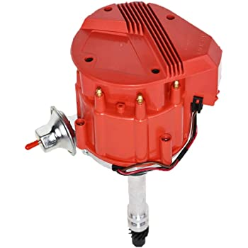 Black Cap Complete HEI Distributor 65k Volt Ignition Coil For Chevy V8 305 350 454 SBC BBC