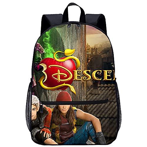 SFDHG Zainetto 3D per bambini Backpack Descendants da viaggio unisex di moda Borsa da scuola Dimensioni: 45x30x15 cm/17 pollici Zaini leggeri