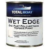 TotalBoat Wet Edge Marine Topside Paint for Boats, Fiberglass, and Wood (White, Quart)