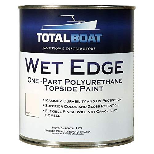 TotalBoat - 365399 Wet Edge Marine Topside Paint for Boats, Fiberglass, and Wood (White, Quart)