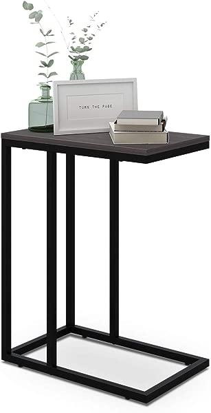 WLIVE 小吃侧桌 C 形端桌沙发沙发和床灰色橡木