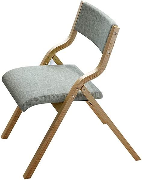 Wghbd Folding Chair Solid Wood Dining Chair Backrest Creative Leisure Computer Chair Modern Minimalist