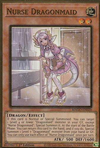 遊戯王 MAGO-EN020 ドラゴンメイド・ナサリー Nurse Dragonmaid (英語版 1st Edition プレミアムゴールドレア) Maximum Gold