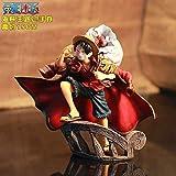 GYCOZ Decoración hogareña Scultures de 15 cm Big One Piece Figure Toy Luffy Dracule Mihawk Modelo Mu...