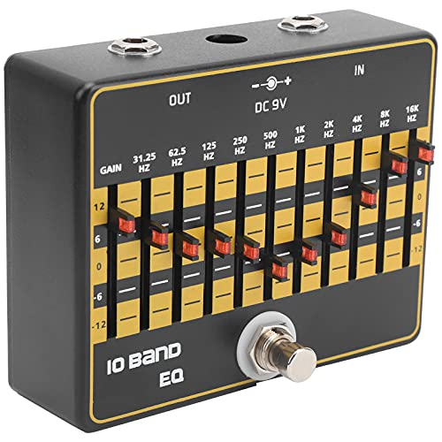 Sound Equalizer, Excellent Sound Effects Can Precisely Control 10 Guitar Center Frequencies Effect Pedal for Electric Guitar