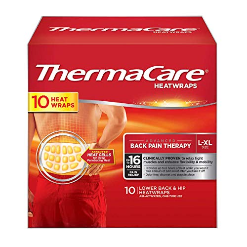 ThermaCare - Lower Back & Hip L/XL, 10 Air-Activated HeatWraps