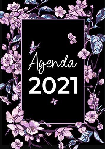 Agenda 2021: Agenda de bureau journalier - Format A4 - 2 Pages Par Jour - du 01/01/2021 au 31/12/2021
