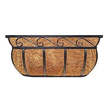 Garden Trough Deck Planter English Horse Trough Coco Planter Metal Window Planter Trough Cast Iron with Coco Liner