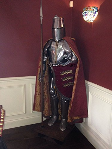 NauticalMart Medieval Wearable Knight Full Suit of Armor Combat Body Collectible Armor Costume